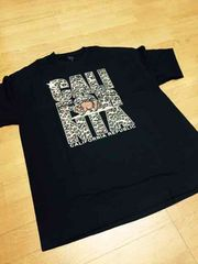 LA直輸入CaliforniareRubric Tシャツ黒豹柄プリント サイズXL�J