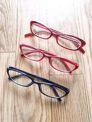 UVだて眼鏡★セリア黒赤ダテメガネ サングラスGU似ジーユー似スリーコインズ似めがね