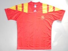 199293アディダスサッカースペイン代表シャツユニフォーム英国製