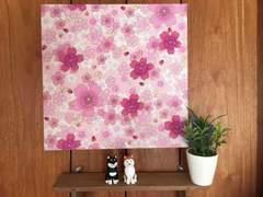 桜☆木製ファブリックパネル♪♪