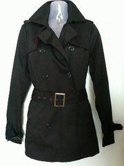EGOISTエゴイスト形が綺麗なPコート【ブラック】少々難あり中古
