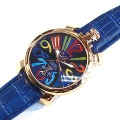 人気の青カラフル★Italianデザイン腕時計メンズ【CF】新品