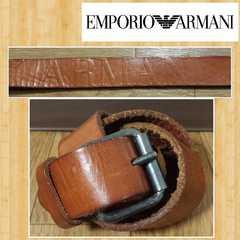 EMPORIO ARMANI エンポリオアルマーニ 本革 型押しベルト イタリア製