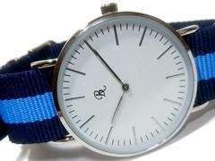 良品【ワンコイン】爽やかな大型 メンズ腕時計★