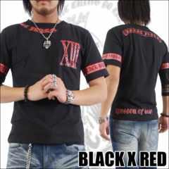 メール便送料無料【MAD BURST JAPAN】70562Tシャツ黒赤XL