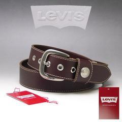 LEVI'S リーバイス 牛革 ベルト 40mm 6091 ブラウン 新品 本物 送料無料