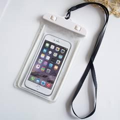 夜光 スマホ 防水ケース ホワイト 防水ポーチ スマホケース 携帯