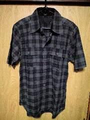 ROENロエン スカルボーンモノグラムチェックシャツ 46
