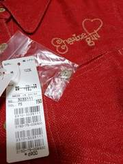 新品★『ensuite柔らか赤いシャツ』=定価6900円=150=