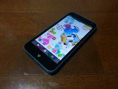 即落/即発!!美中古品 F-03F Disney Mobile ブルー