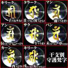 8mm/オニキス&金龍&梵字数珠ブレスレット/キリーク戌亥