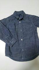 超美品★GAP ダンガリーシャツ 110�a 長袖シャツ