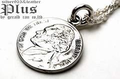 送料無料!アメリカ5セントコインペンダント(コイン、硬貨