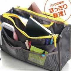 新品 緑色 カバンの中の整理整頓に最適 バッグinバッグ