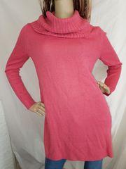 H&M オフタートル ニット ワンピース S ピンク セーター