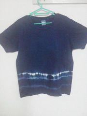 Fー160★メンズ半袖デザインTシャツ ネイビー S
