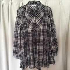 チェックシャツ チュニック