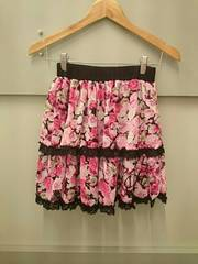GHOST OF HARLEM☆薔薇柄シフォンスカート