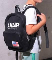 新品ANAPKIDS★ ロゴ リュック 黒 バッグ アナップキッズ