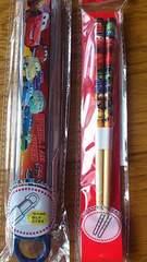 ディズニー!カーズ!スライド式ケース&箸セット!新品!