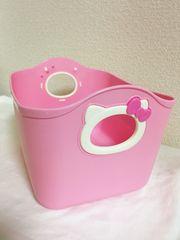 新品*キティやわらかミニバケツ*収納BOX*小物入れ*ピンク