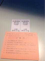 東武鉄道株主優待乗車証 電車全線2枚