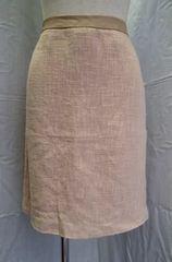 ◆LUCA LUCA/麻&ラムレザー入 イタリア製タイトスカート