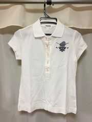 新品 白ポロシャツ スポーツウェア アウトドア ゴルフテニスバレ
