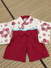 美品☆女児 袴 着物フォーマル70サイズ お食い初めひな祭り正月