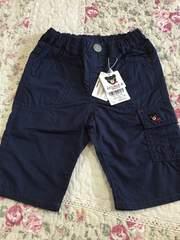 新品 ダブルB ハーフパンツ 夏用 紺色 100cm