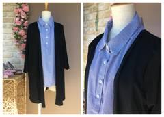 新品 4L 大きいサイズ フェイクシャツ アンサンブル GR107-4