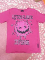 LISTEN FLAVORピンクTシャツ