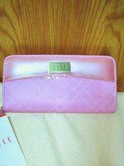 大人気ブランド《ELLE/エル》素敵なラウンド長財布 新品 ピンク