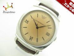 アルマーニ 腕時計 - メンズ 革ベルト ライトブラウン