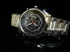 新品★腕時計 シルバー・黒/ブライトリング好きに