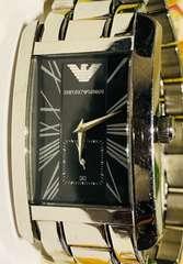 良品エンポリオアルマーニメンズ時計ブレスベルト付属品電池新品