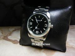 新品 ★腕時計 シルバー ブラック/エクスプローラ好きに