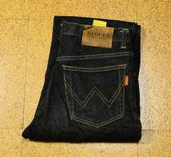 W30 廃盤 80'Sビンテージ エドウィン1963-01 ブラックデニム