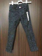 コンベックススキニーパンツ黒サイズ120