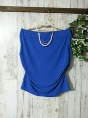ベアトップ*タイトスカート*2way ロイヤルブルーXL 大きいサイズ