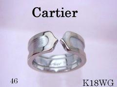 【即買】カルティエ Cartier K18WG 2C リング SM 46 新品仕上げ済★dot