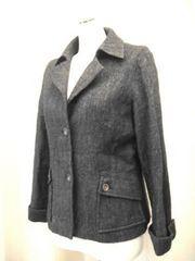 【f.CAMINO】黒系のウールジャケットです
