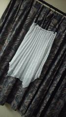 ドット柄シフォン透け透けプリーツへムスカート