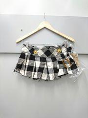 d.i.a☆ブロックチェック柄プリーツ巻きスカート