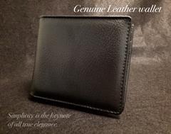本革BLACKベーシック高品質レザー二つ折財布