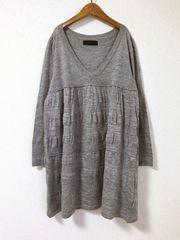 ((( JEANASiS )))キリカエニットチュニック gray