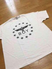 LA直輸入 BOY デザインプリントTシャツサイズ4XL白ホワイト