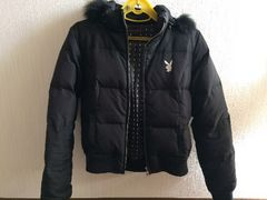 プレイボーイPLAY BOY黒色ブラックダウンジャケットコート