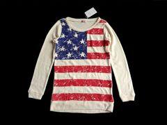 新品 fip girls アメリカ 国旗 星条旗 ニット セーター 150