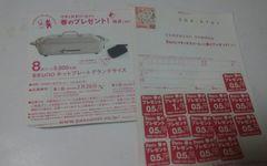 送料込・PASCOホットプレートグランデサイズ応募券 62円切手付